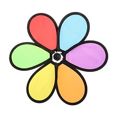 SimpleLif Colorful Rainbow Dazy Flower Spinner Wind Windmill Garden Yard Outdoor Decor: Home & Kitchen