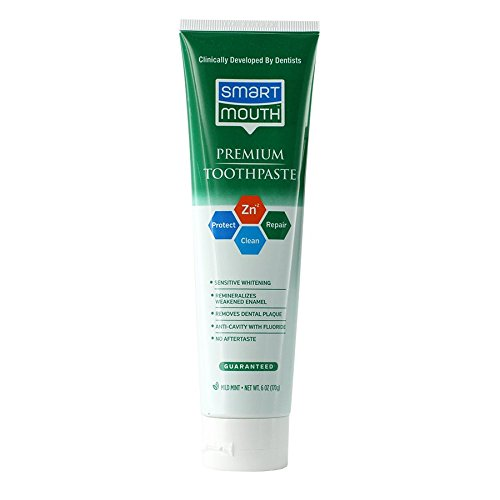 Smart Mouth Whitening Toothpaste with Fluoride Clean Mint 6 oz (Pack of (Breath Fluoride Toothpaste)
