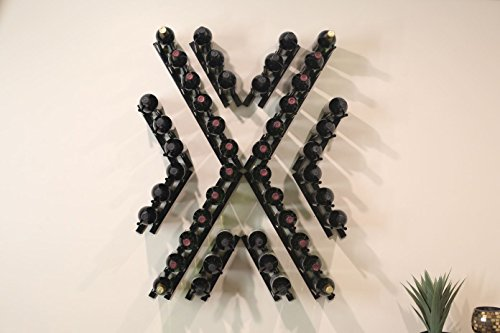 Ultra Wine Racks Straight Peg Angle X Design Bundle (Black Satin) by Ultra Wine Racks & Cellars