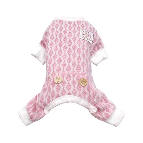kyeese Dog Pajamas Stretchable Dog Jumpsuit 4 Legs Pet PJS Puppy Cat Pajama Onesie for Fall Winter