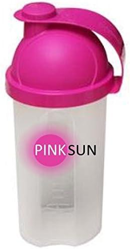 PINK SUN Proteína Agitadora 500ml (Rosa o Negro) Botella Mezcladora Proteinas Mujeres Pequeñas Rosa Sin BPA - Shaker Mixer Bottle Mini Whey Protein ...