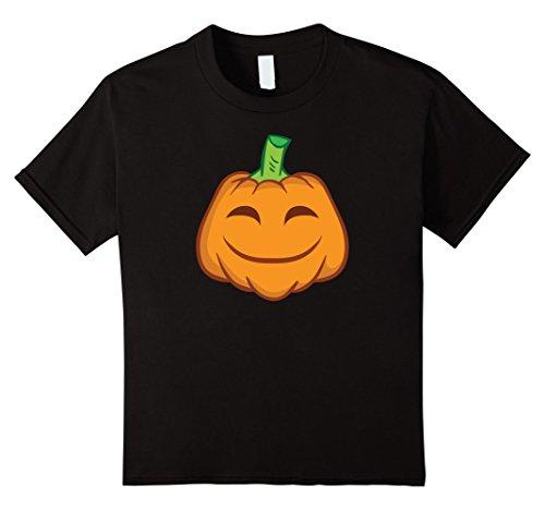 [Kids Pumpkin Face Shirt - Smiley Pumpkin Shirt Halloween Costume 4 Black] (4 Person Halloween Costumes Ideas)