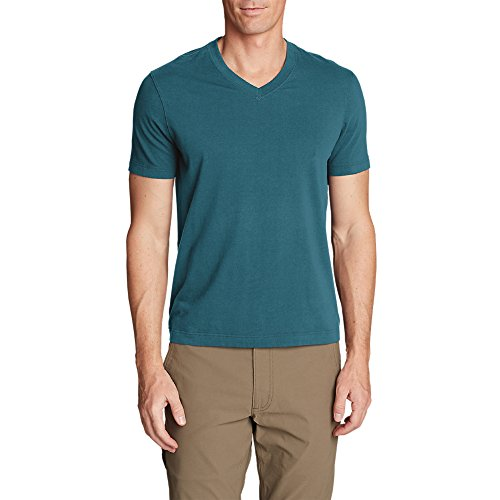 Cheap Eddie Bauer Men's Lookout Short-Sleeve V-Neck T-Shirt