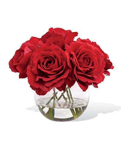 Petals Silkflowers Silk Rose Nosegay - Red