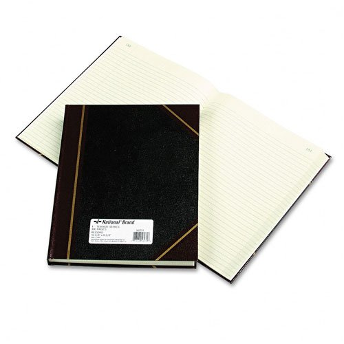 National Brand : Texhide Accounting Book, Black/Burgundy, 300 Green Pages, 10 3/8 x 8 3/8 -:- Sold as 2 Packs of - 1 - / - Total of 2 Each by National
