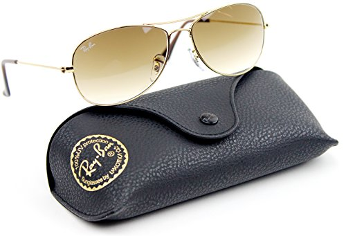 Ray-Ban RB3362 Cockpit Gradient Lens Unisex Sunglasses (Gold Frame / Brown Gradient Lens 001/51, ()