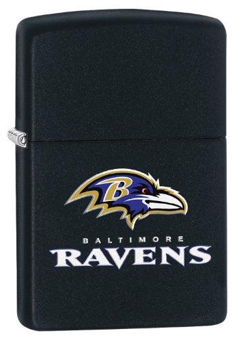 Zippo Lighter - NFL Baltimore Ravens Black Matte