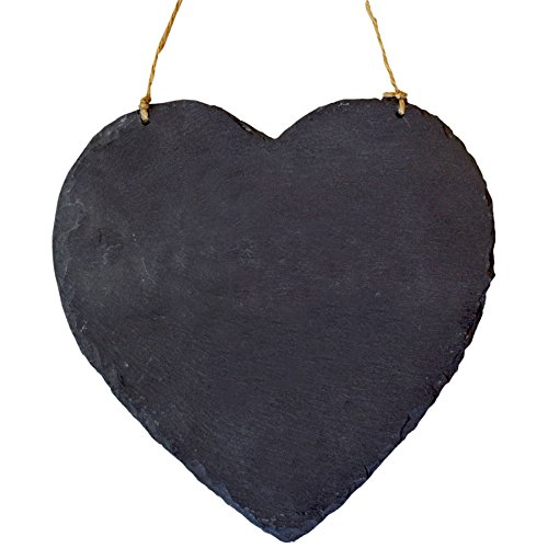 Large Hanging Heart Slate Chalk Board / Black Board - Slate Heart
