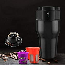 YLEI Electric Portable Compact Coffee Maker,Espresso Coffee Machine, Compatible with K-Cup Capsule and Coffee Powder, USB Charging, Perfect for Travel, Home