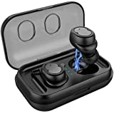 Wireless Bluetooth Headphones Headset 3D Stereo Sound Bass Waterproof Latest 5.0 Sports Earbuds,Built-in Mic Compatible iPhone Samsung iPad All Bluetooth Devices(Black)