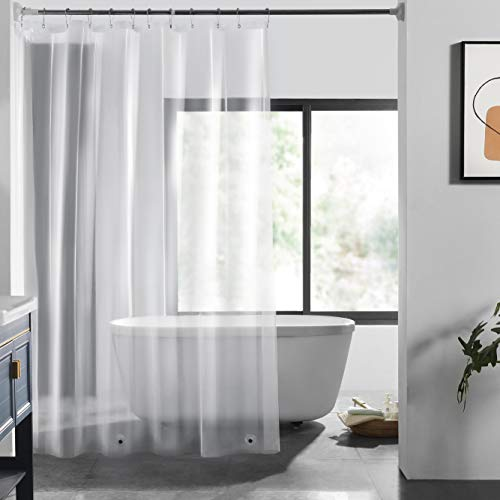 LOVTEX PEVA Shower Curtain Liner – 72×72 Light Weight 3G Clear Liner Water Repellent for Bathroom Shower