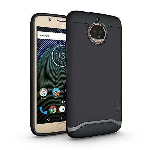 TUDIA Moto G5S Plus Case, Slim-Fit HEAVY DUTY [MERGE] EXTREME Protection/Rugged but Slim Dual Layer Case for Motorola Moto G5S Plus (Matte Black)