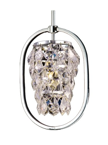 (Dale Tiffany GH80292 Tooley Mini Pendant Light, Polished Chrome Finish)