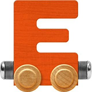 product image for Maple Landmark NameTrain Bright Letter Car E - Made in USA (Orange)