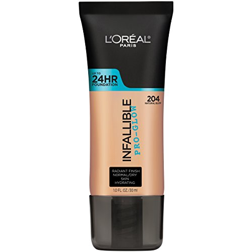 L'Oreal Paris Makeup Infallible Up to 24HR Pro-Glow Foundation, 204 Natural Buff, 1 fl. oz. (Best Foundation Radiant Glow)