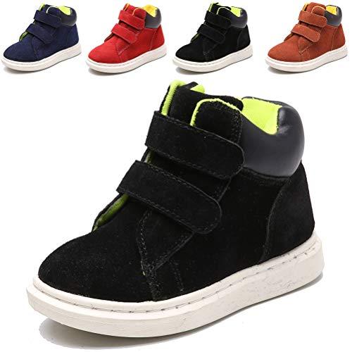 DADAWEN Boys Girls Suede Leather Strap Winter Ankle Boots (Toddler/Little Kid/Big Kid)
