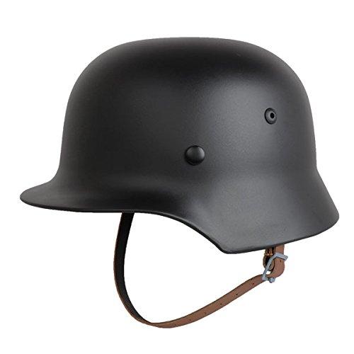 SHENKEL B0773KC7YP ドイツ軍 SHENKEL WW2 M-35 WW2 スチールヘルメット ブラック B0773KC7YP, 住設と家電のベアーハンズ:10a51fe2 --- mail.liquidflo.com.my