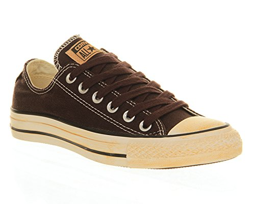 Converse All Star OX - Zapatillas de deporte de lona, unisex, color marrón (burnt umber brown vintage washed twill), talla 38 1/9