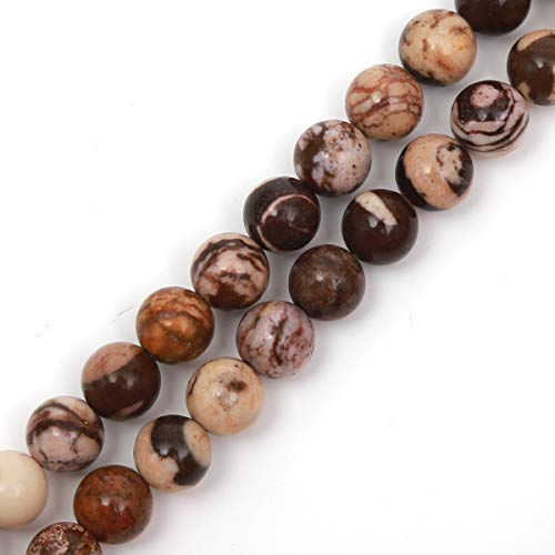 Genuine Natural Stone Beads Australia Zebra Jasper Round Loose Gemstone 8mm 1 Strand 15.5