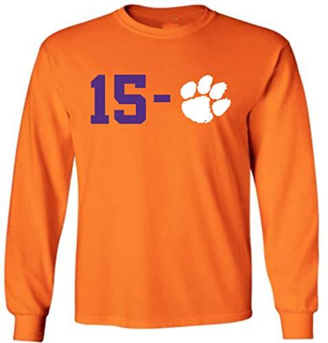 - Long Sleeve Orange Clemson 15-0 2018 2019 National Champs T-Shirt Youth