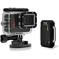 Sound Around GDV995BK HD Video Recording Gear Pro Quest Wi-Fi Action Camera/Camcorder, Full HD 1080p Video, 16 MP Cam, LCD Display, Wireless Remote, Waterproof Case