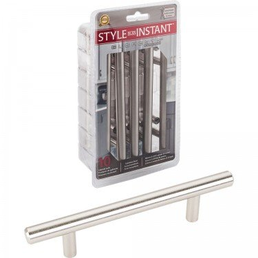 10 Pack Commercial Elements 154SS Naples Collection 96mm Center to Center Bar Cabinet Handle Pull