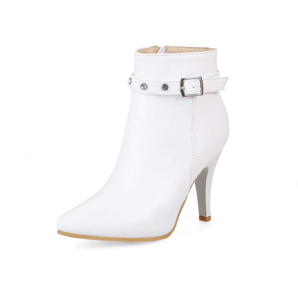 XQY Damen Stiefel Stiefel Stiefel - Stiletto Mode Europäischen Und Amerikanischen Römerstiefel Seitliche Reißverschluss Warme Stiefel   33-43 547328