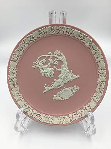Wedgwood 1983 pink jasperware Valentine's Day plate.