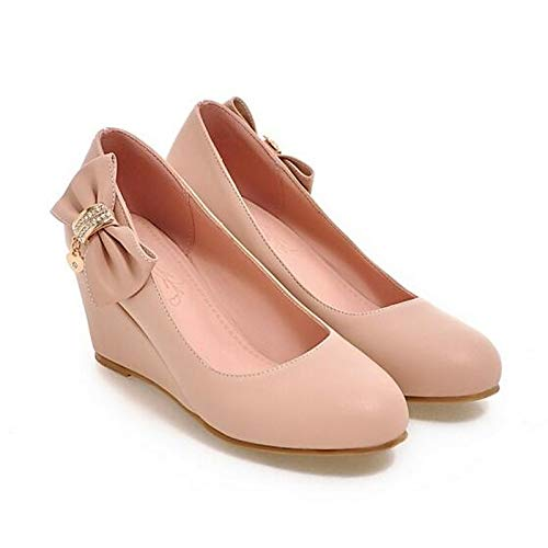 Wedge ZHZNVX Black Pink White Heel PU Women's Polyurethane Shoes Heels Pump Pink Spring Basic Fr8RF