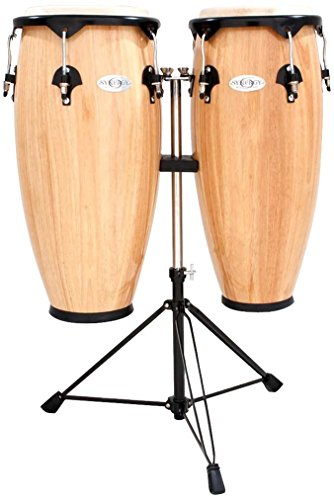 Toca Synergy Wood Conga Set w/ Double Stand - Natural by Toca