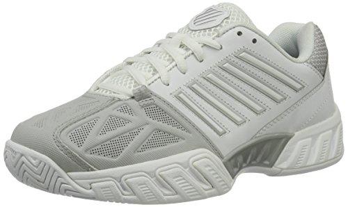 K-Swiss Women's Bigshot Light 3 Tennis Shoes (White/Silver) (7 B(M) US)