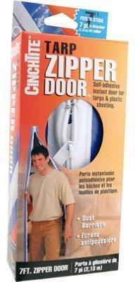 Homax Products 6025 CinchTite Peel 'N Stick Tarp Zipper Door 7' by Homax Group Inc
