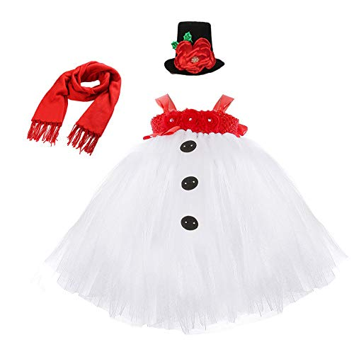 Halloween Costumes for Toddler Girls Snowman Christmas Costume for Kids -
