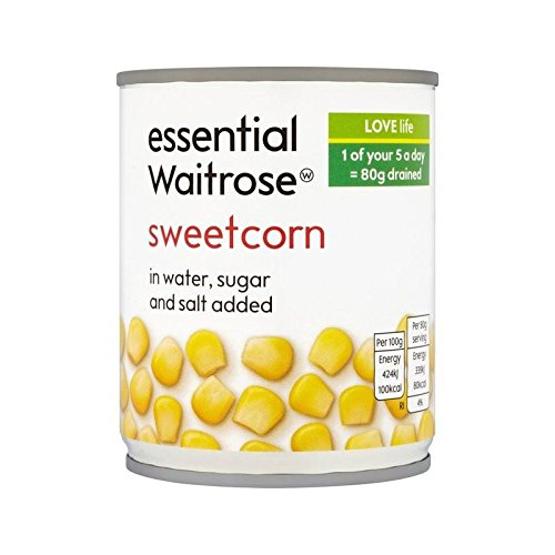 Sweetcorn essential Waitrose 200g - Pack of 6