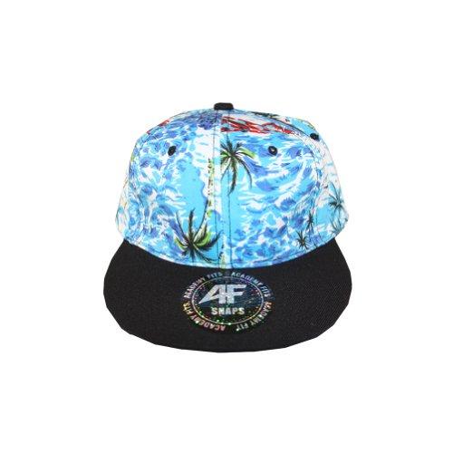 Vintage Baby blue green red blue ocean Crown Black Lid Brim snapback hat -  Buy Online in UAE.  f6e3e782fc8