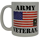 Army Veteran Coffee Mug United States America USA Flag Patriot Novelty Cup Great Gift Idea For Women Men USA Military
