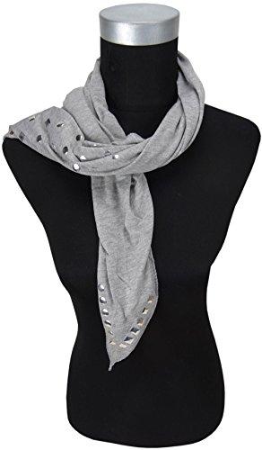 Triangle tissu dans gris clair avec Nieten besetzt - taille 170 x 75 cm