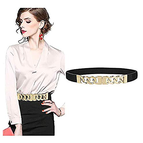 VITORIA'S GIFT Fashion Women Belt Solid Round Shape Buckle Waist Belt Casual Leather Belts ()