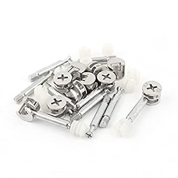 10pcs Furniture Connector Cam Fittings Pre-inserted Nuts Dowels Sets