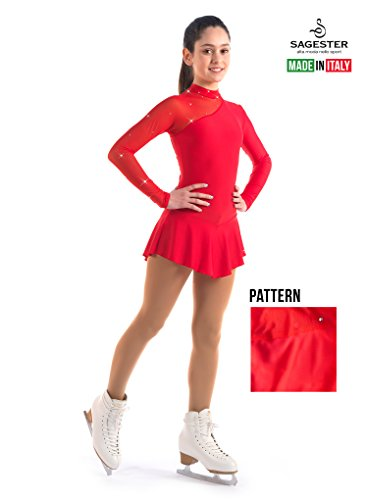 Sagester # 149 / Italy Hand-Made/Ice Skating Dress/SW / Sz: III, Red