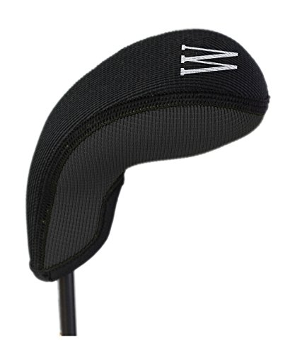 Stealth Club CoversW Wedge or Lob Wedge Golf Club Head Cover, Black Solid 28110
