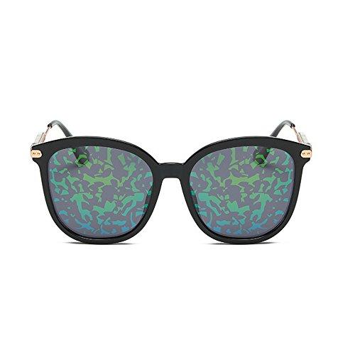 pour Soleil UV Pleine Conduite TR90 Lunettes de Chat GWF Protection personnalité de de des Couleur green lentille polarisée Silver Yeux la la Les Flower wTZxtq4