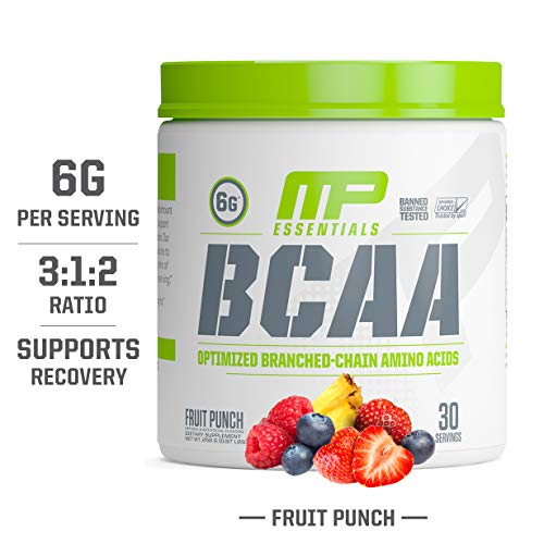 MP Essentials BCAA Powder, 6 Grams of BCAA Amino Acids, Post-Workout Recovery Drink for Muscle Recovery and Muscle Building, Valine Powder, BCCA Post-Workout, Fruit Punch, 30 Servings (Best Post Workout Powder)