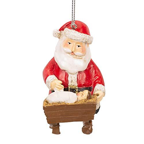 Midwest-CBK Santa Baby Jesus Christmas Tree Ornament ()