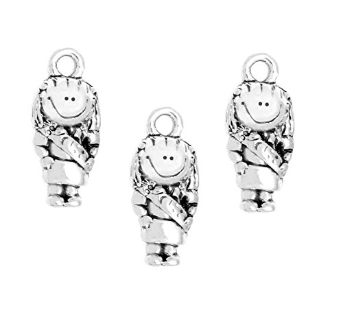 - Clayvision (3) Scout Brownie Daisy Campfire Girl Charm for Bracelet Necklace