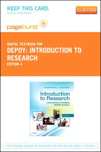 Introduction to Research - Elsevier eBook on VitalSource (Retail Access Card): Understanding and Applying Multiple Strategies, 4e
