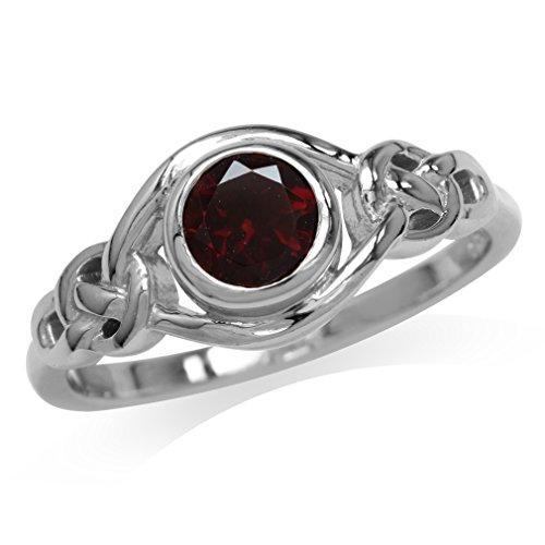 natural-garnet-white-gold-plated-925-sterling-silver-celtic-knot-ring-size-8