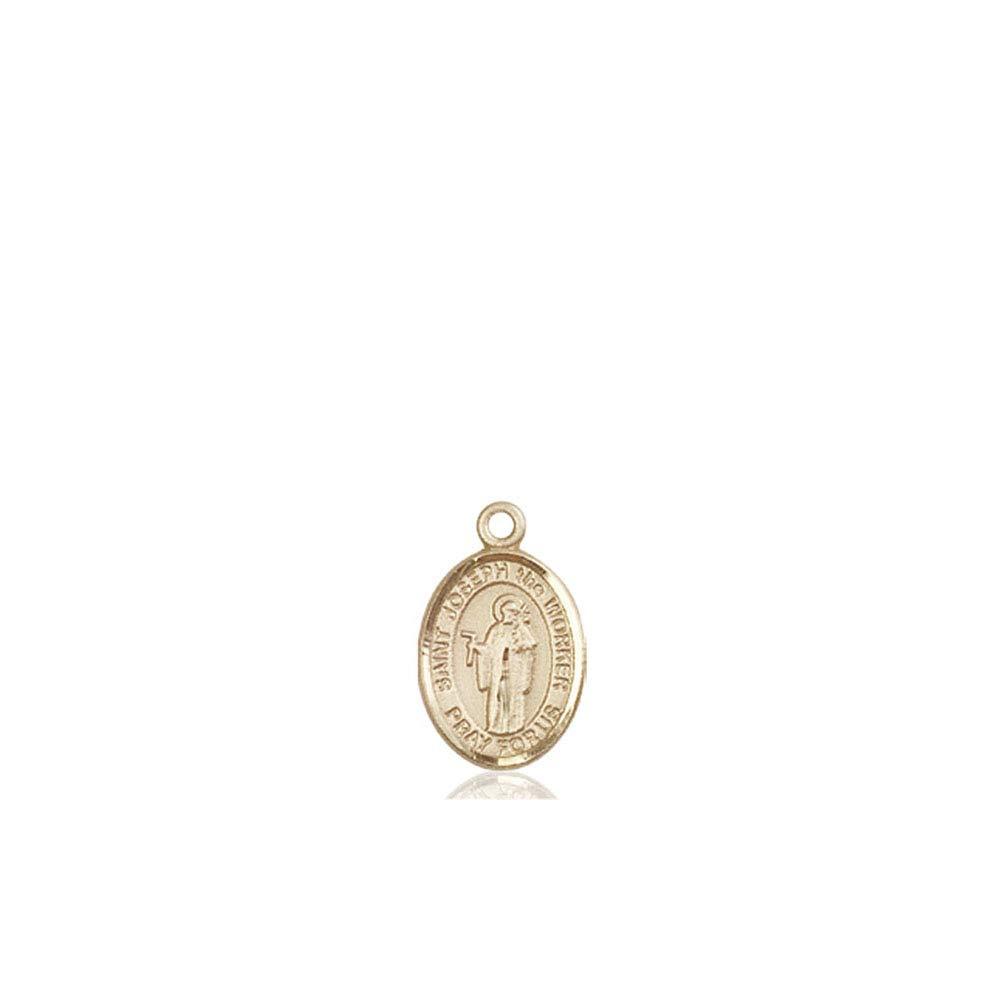 14kt Gold St Joseph The Worker Medal