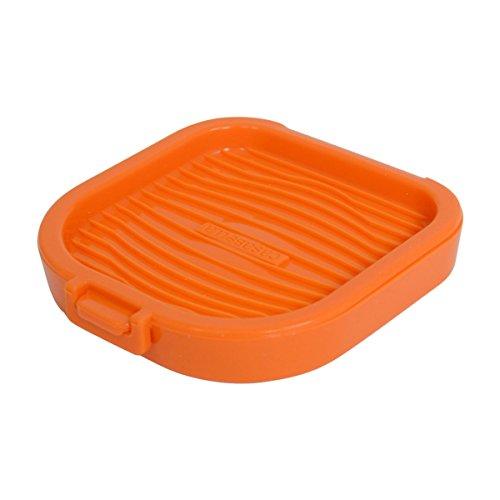 Casabella 4-1/2-Inch Square Silicone Microegg Cooker, Orange