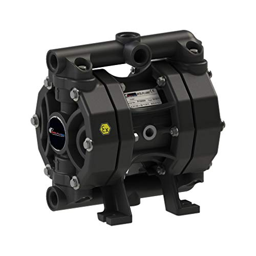Wolflube Diaphragm Pump - Polypropylene - 1/2'' - For Oil and Diesel - Free Flow Rate 14.5 gpm (Industries Spa Gpm)